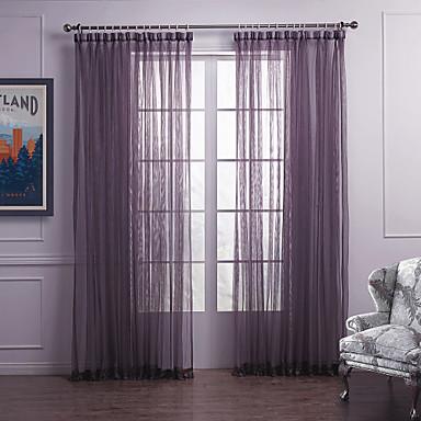 Cortinas cortinas p rpuras de dormitorio semi transparentes - Cortinas de bano transparentes ...