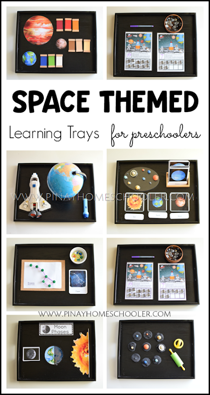 Montessori Inspired Space Themed Learning Activities
