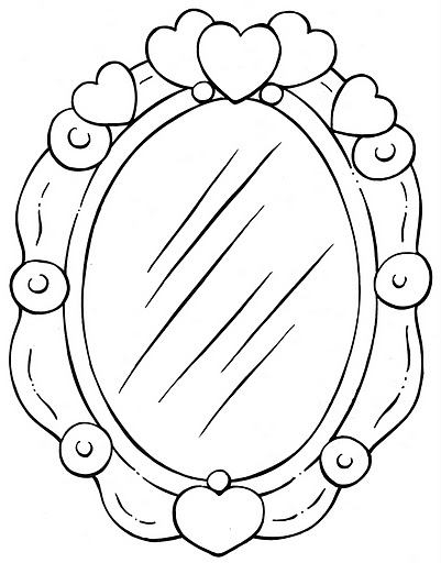 coloring pages mirror - photo#8