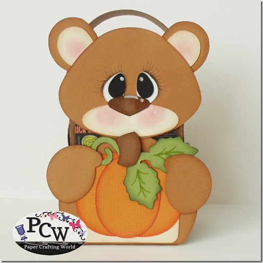 SVG Cut File Bear Pumpkin Treat Box