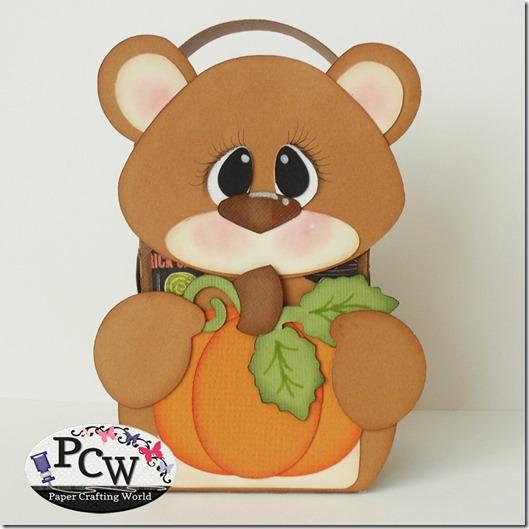 SVG Cut File Bear Pumpkin Treat Box