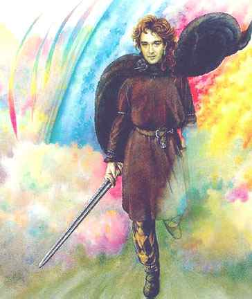 Loki On Bifrost The Rainbow Bridge, Asatru Gods And Heroes