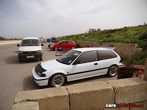 White EF Civic