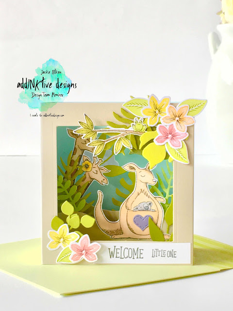 su, stampin up, tropical chic bundle, tropical thinlits, animal outing, cake soiree