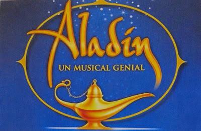 Cartel de Aladin: el musical