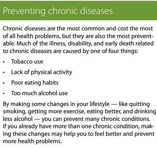 Preventing Chronic Health Conditions