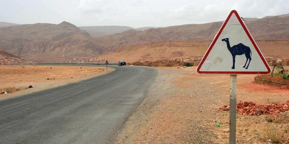 estrada em marrocos