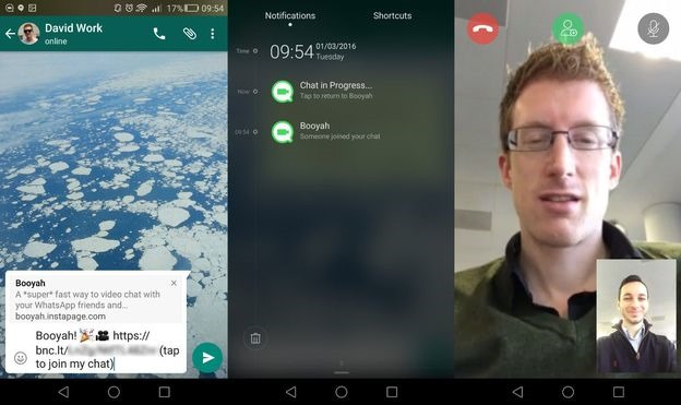 making individual and group video calls in whatsapp for android