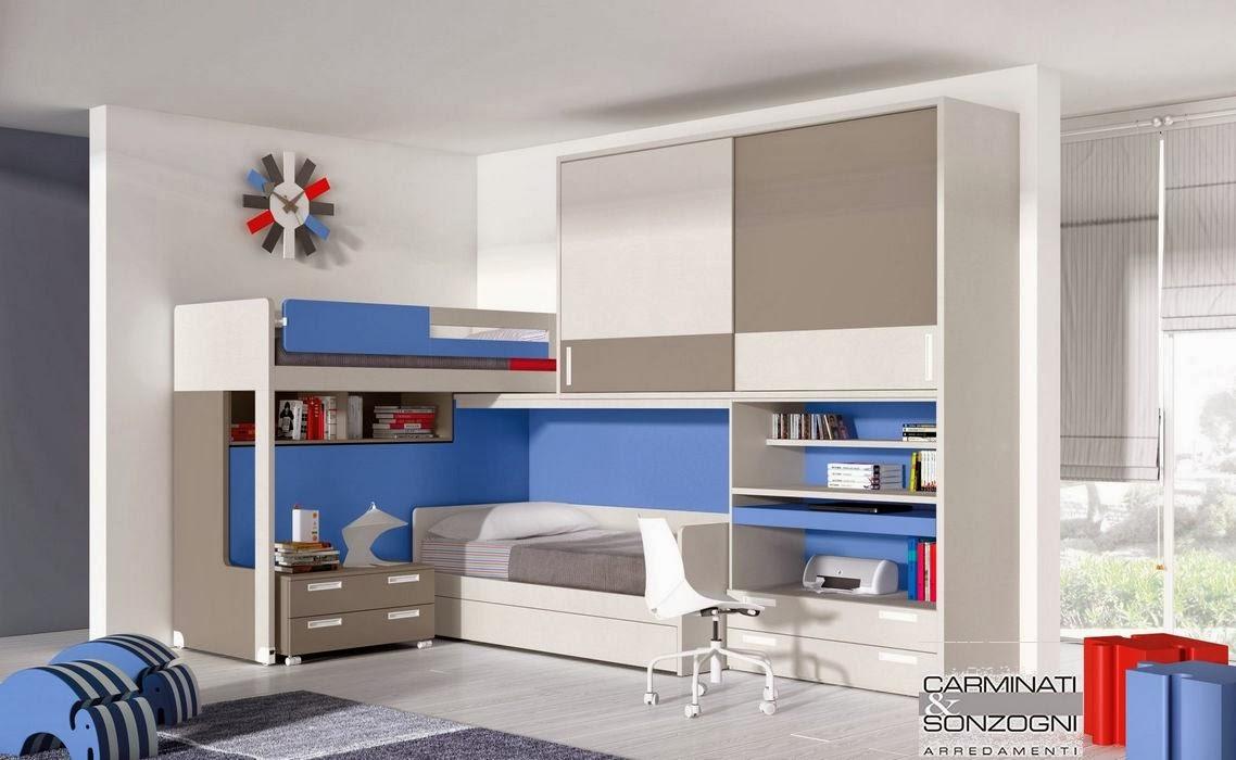 Camerette letti a castello e scrivanie camere per for Casa 5 camere da letto con cantina