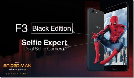 Oppo F3 Black Edition Spiderman