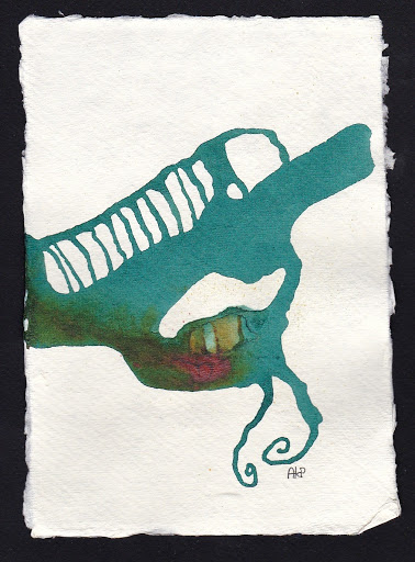 Machine. Artist Andrea Hupke de Palacio. Experiences: An Online Gallery Show of Small Paintings