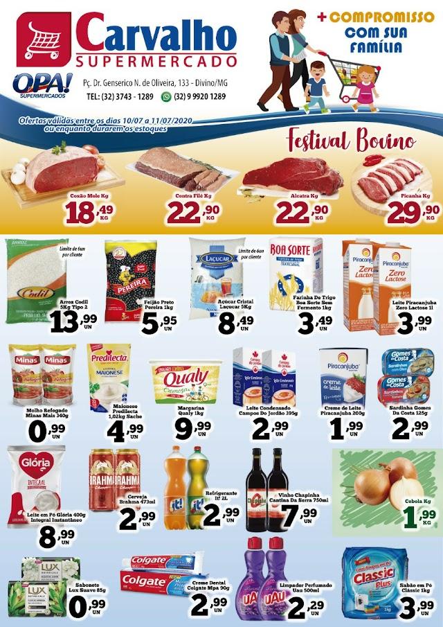 Confira as ofertas deste fim de semana no Carvalho Supermercado