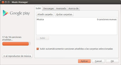 Sincronizando la música de Ubuntu con Google Play Music