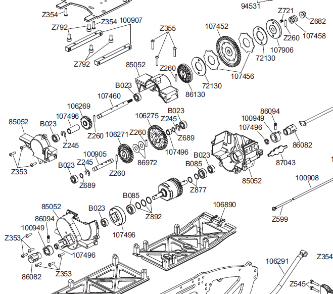 Hpi Savage 25 Parts Diagram