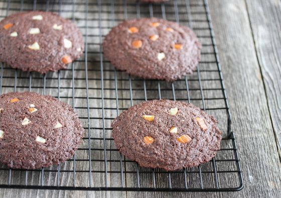 photo of Chocolate Almond Butter Cookies on a baking rack