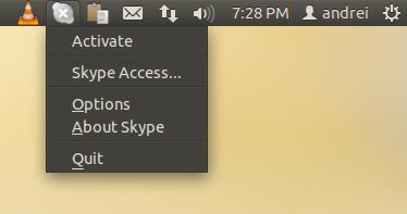 Skype qt appindicator Ubuntu