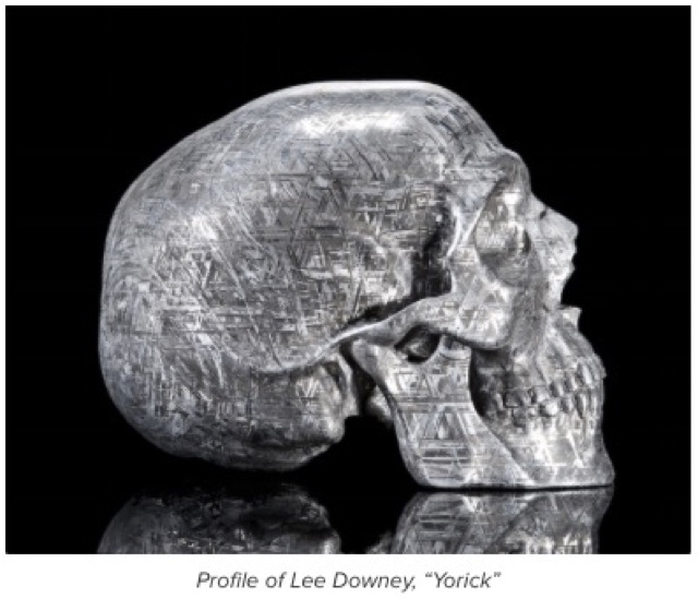 "This ""true time traveler,"" as Downey has described him, can't help but bring to mind Damien Hirst's diamond-encrusted skull titled ""For the Love of God"" ..."
