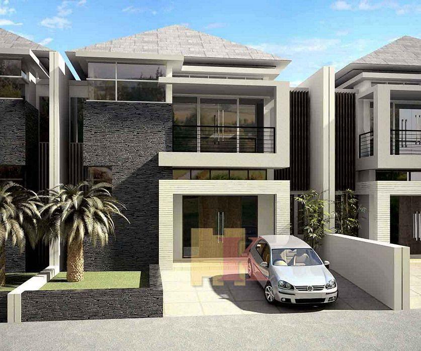 rancangan rumah 2 lt modern yang menarik
