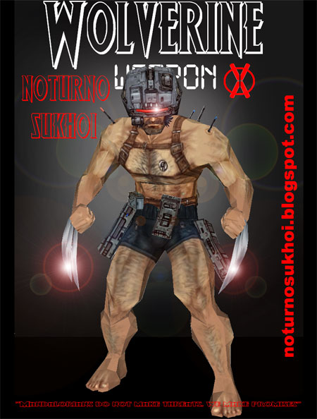 Wolverine Weapon X Papercraft