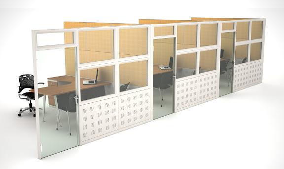 Murosys muros modulares muros divisorios sistema de for Cubiculos para oficina precios