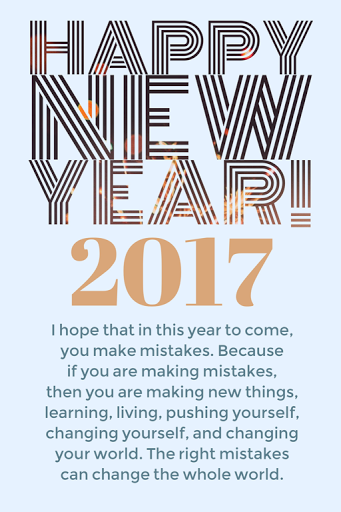 2017 Happy New Year Resolutions