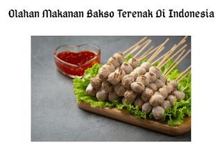 10 Olahan Makanan Bakso Terenak Di Indonesia