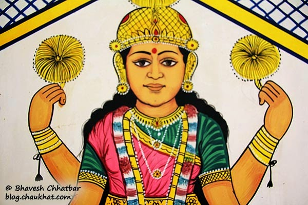 Wall painting of Goddess Lakshmi