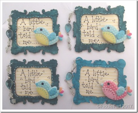 A Little Bird Told Me Framed Tags