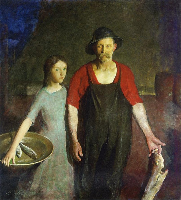 Charles Webster Hawthorne - Fisherman and his Daughter