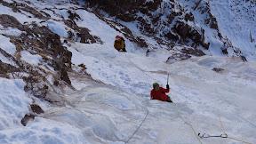 Cascade de glace du Bois Noir, Ceillac