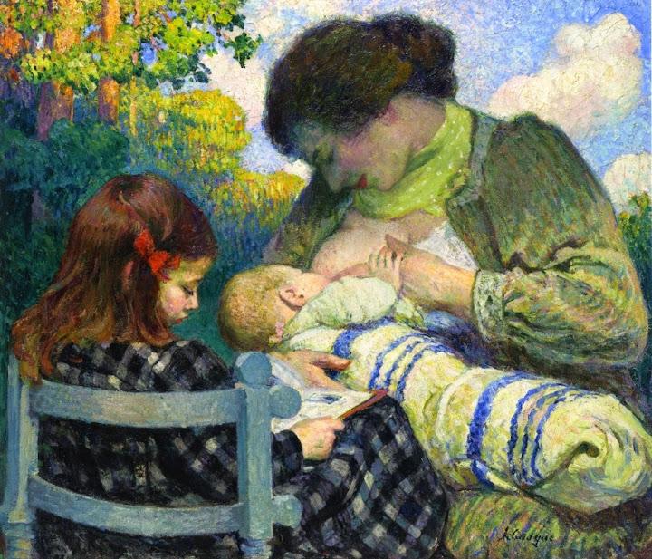 Henri Lebasque - Motherhood, Madame Lebasque and Her Children