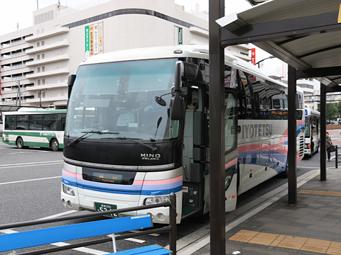 伊予鉄道「キララエクスプレス」 5212 福山駅前到着
