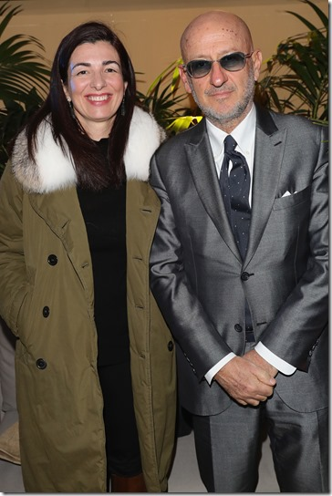 FLORENCE, ITALY - JANUARY 11:  Francesca Lusini and Andrea Panconesi attend The Icon Project Peuterey by LUISAVIAROMA on January 11, 2017 in Florence, Italy.  (Photo by Vittorio Zunino Celotto/Getty Images for LUISAVIAROMA)