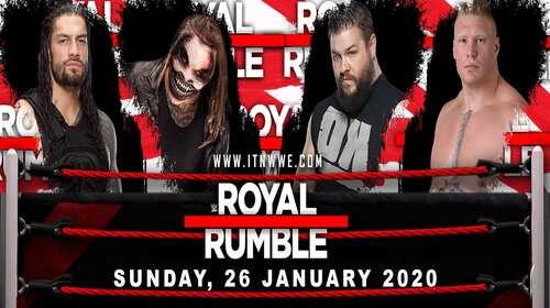Poster Of WWE Royal Rumble 26th January 2020 HDTV 480P 300MB