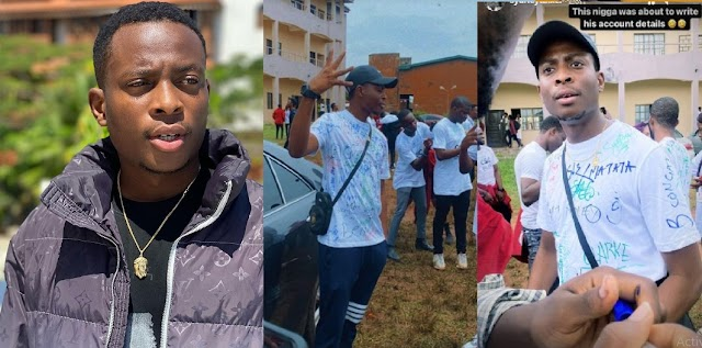 """""""4 years don waka"""" – Instagram Comedian SydneyTalker Celebrate as he signs out from UNIBEN [Photos]"""