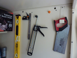 Photo: Hooks for items in the shed