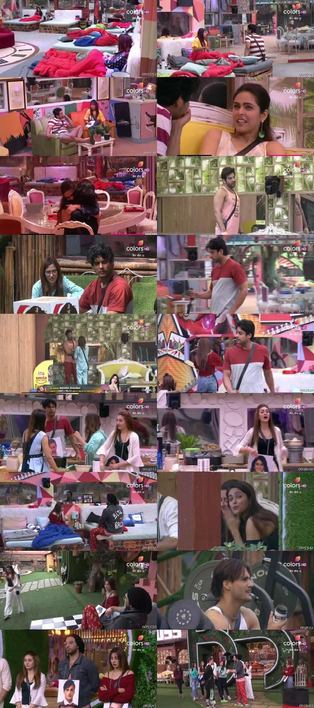 Screenshots Of Hindi Show Bigg Boss 13 8th January 2020 Episode 100 300MB 480P HD