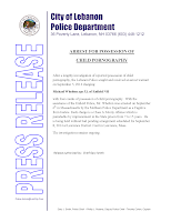 Arrest for Possession of Child Pornagraphy