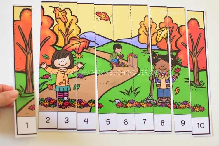 AUTUMN THEMED NUMBER SEQUENCING PUZZLES