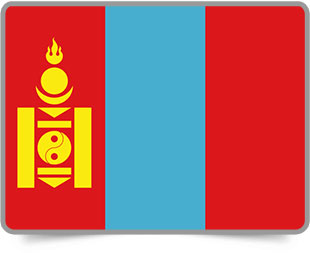 Mongolian framed flag icons with box shadow