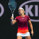 Kirsten Flipkens in action at the 2016 Australian Open