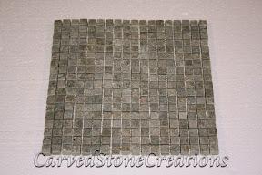 5/8x5/8, Flooring, Flooring & Mosaics, Green, Interior, Mosaic, Natural, Quartzite, Stone, Tile