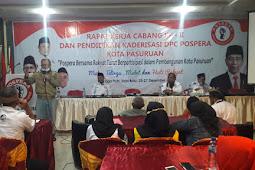 """Merasa Salut Dengan Ormas Pospera Kota Pasuruan, Pudjo Basuki """"Gembleng"""" Peserta Rakercab Di Batu"""