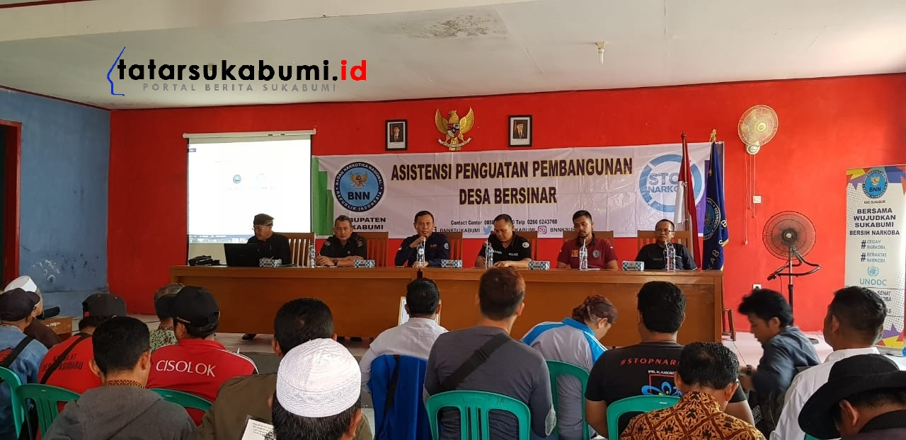 BNNK Sukabumi : Asistensi Penguatan Desa Bersih Narkoba di Sepanjang Pantai Selatan Sukabumi