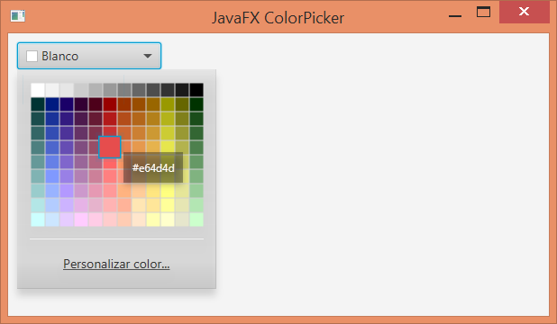 ColorPicker control JavaFX