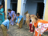 PVs do P.E. with primary school pupils