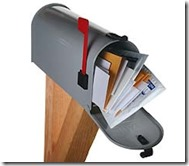 Junk Mail in mailbox