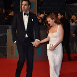 OIC - ENTSIMAGES.COM - Sacha Baron Cohen and Isla Fisher at the  EE British Academy Film Awards 2016 Royal Opera House, Covent Garden, London 14th February 2016 (BAFTAs)Photo Mobis Photos/OIC 0203 174 1069