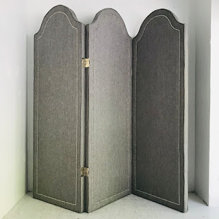 Contemporary Upholstered Folding Screen