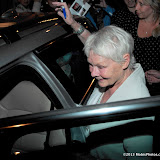 WWW.ENTSIMAGES.COM -   Dame Judi Dench exit at her Last night at Peter and Alice Noel Coward Theatre St Martins Lane June 1st 2013    Photo Mobis Photos/OIC 0203 174 1069